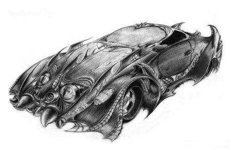 Scary Car Sculptures