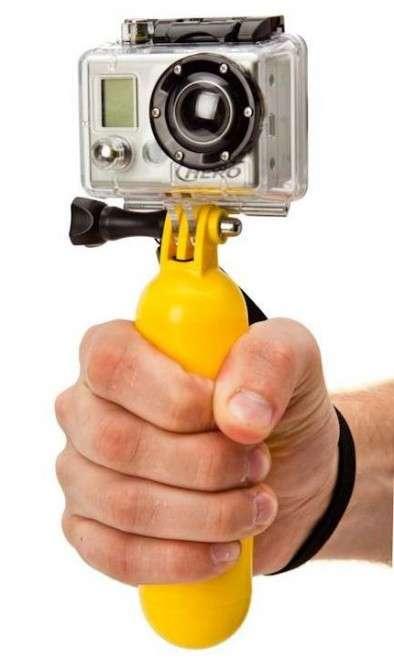 Bouyant Banana-Shaped Camera Handles