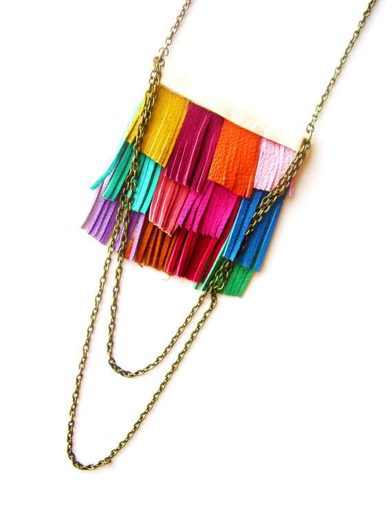 the Boo and Boo Factory fringe leather necklace