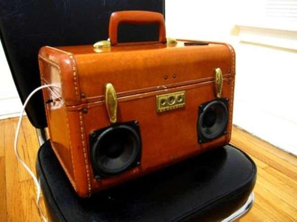 Vintage Luggage Speakers
