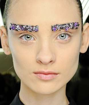 Brightly Bejeweled Eyebrows
