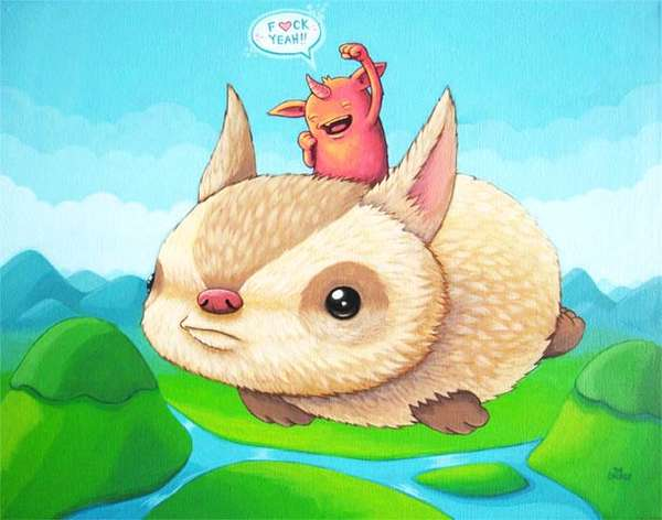Fiendishly Cute Creature Cartoons