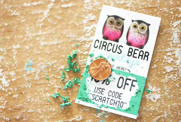 DIY Scratch Tickets