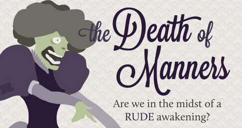 The Death of Manners Infographic