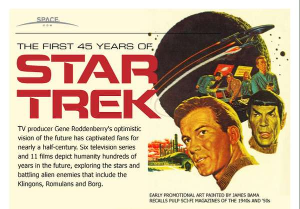 'The Evolution of Star Trek' Infographic