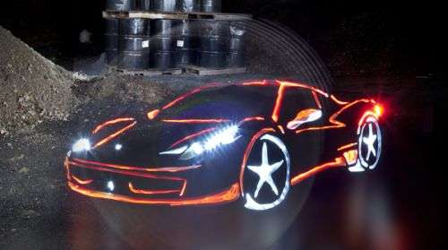 Illuminated Graffiti Supercars