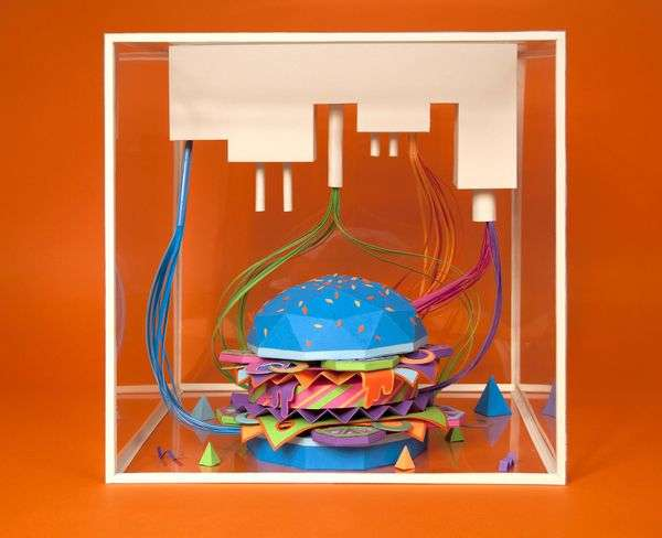 Bright Burger Sculptures