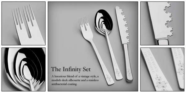 Contemporary Fractal Cutlery The Infinity Set