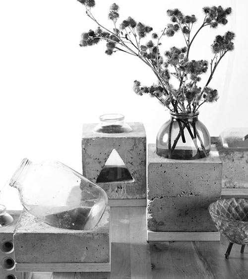 Cemented Flower Holders