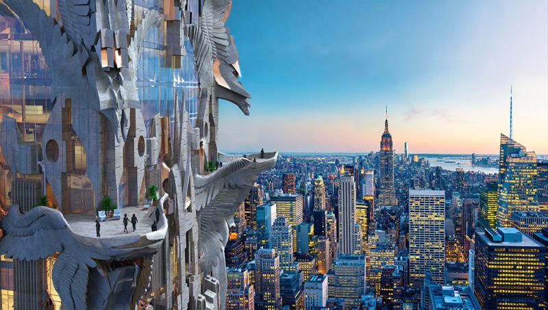 Glitchy Gargoyle Skyscrapers