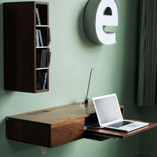 Space-Saving Floating Escritoires