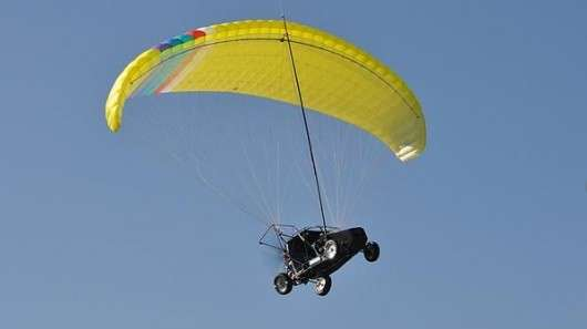 Parachute-Powered Vehicles