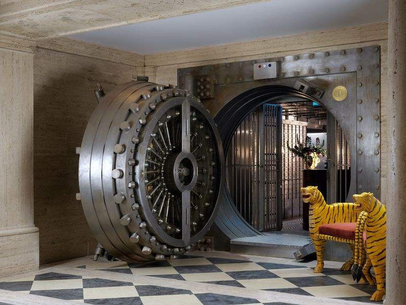 Lavish bank vault bars the ned for Building a home vault