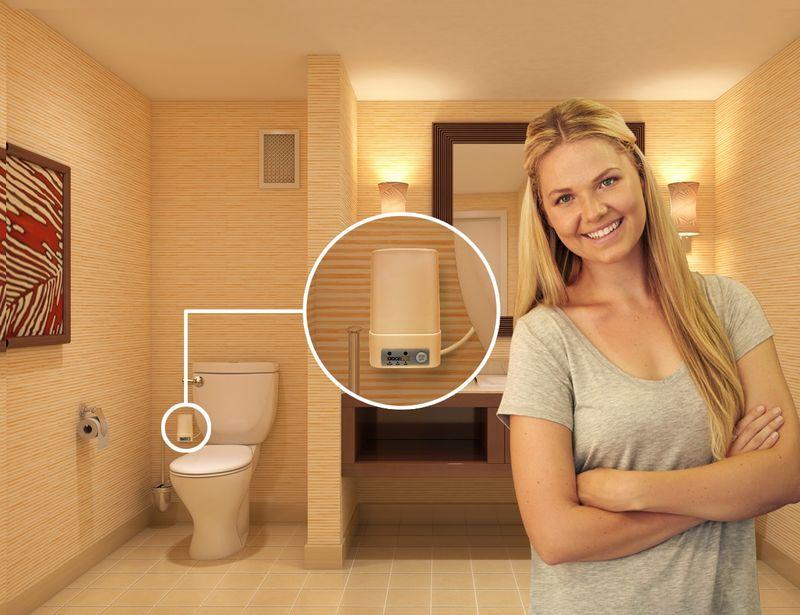 Scent-Sucking Toilet Accessories