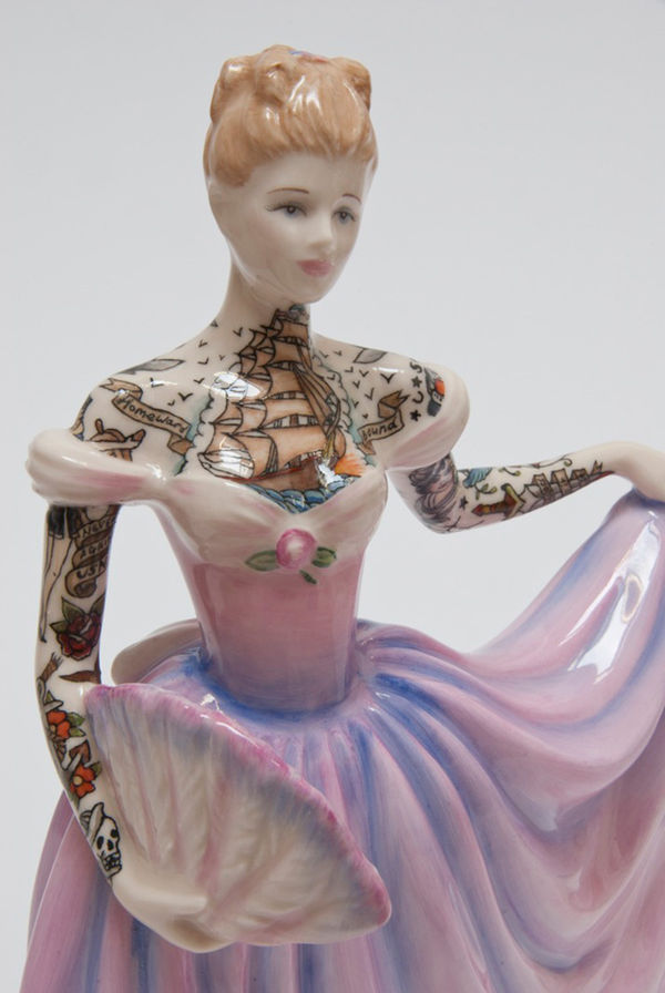 Tattooed Porcelain Figures