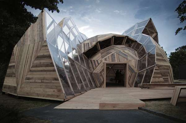 Dome Home Design Ideas: Wooden Geodesic Pavilions : The Peoples Meeting Dome
