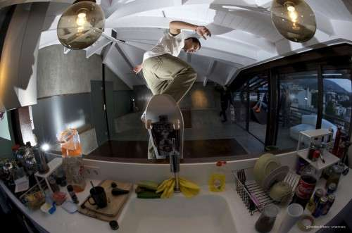 In-Home Skateboading