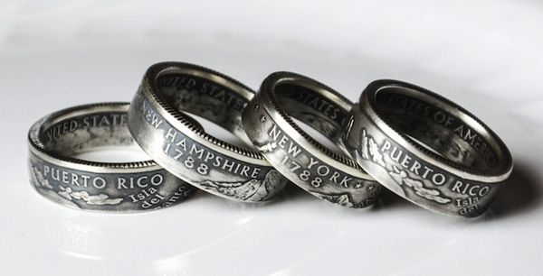Double-Sided Coin Rings