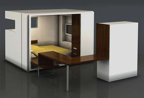 Fold Away Bedrooms The Room By Oda Expands To Reveal A
