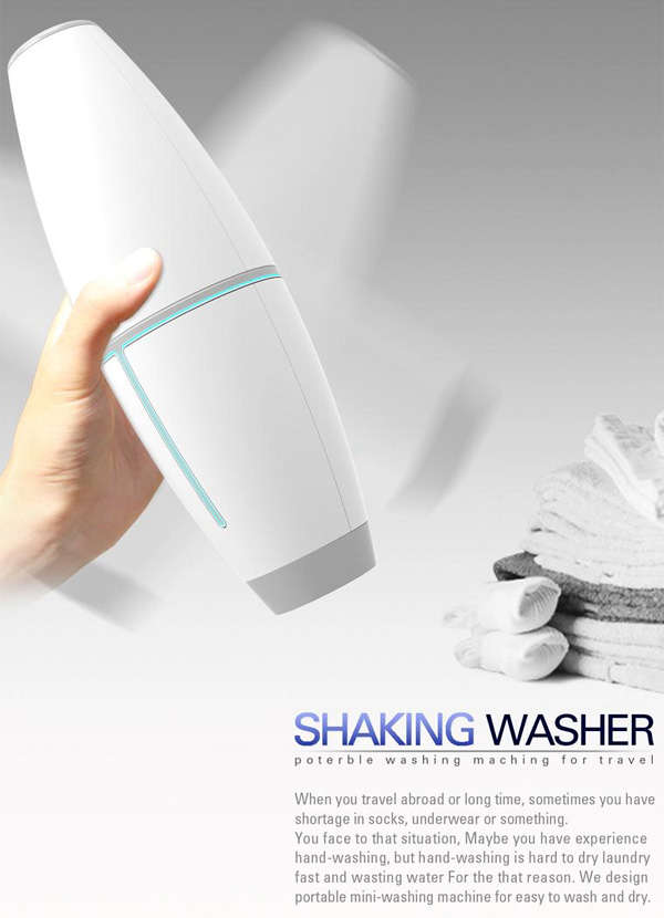 Shake-Powered Portable Washers