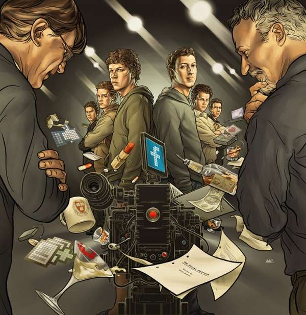 The Social Network Illustrations
