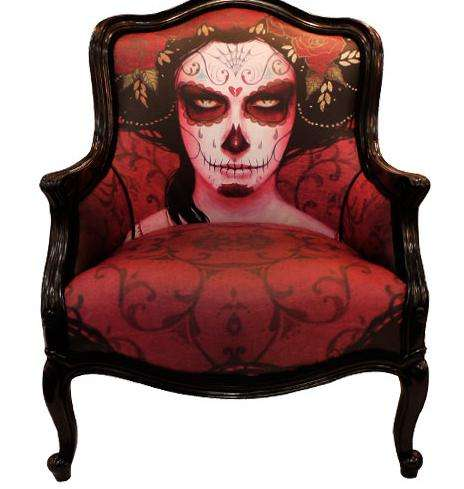 Stunning Skull-Printed Seating
