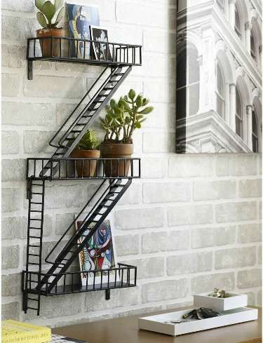 Fire Escape Bookshelves