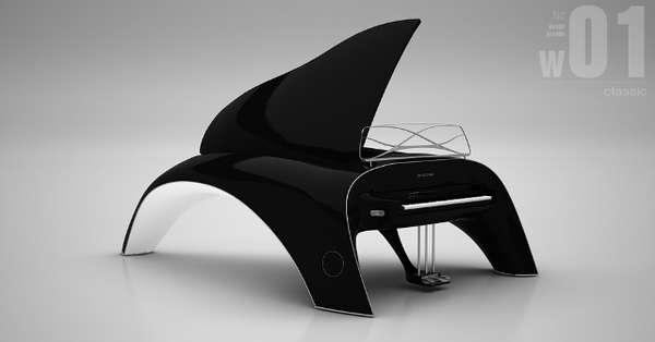 Whale-Inspired Pianos