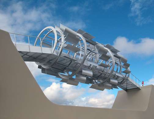The Wind Tunnel Footbridge