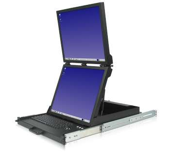 Laptop With Dual 19-inch Flat Panels