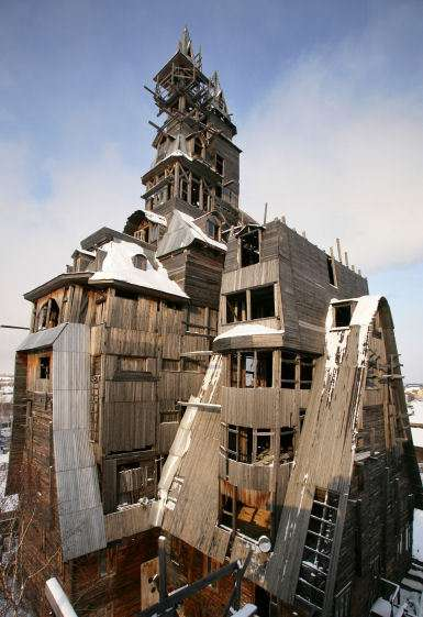 The World's Tallest House of Sticks
