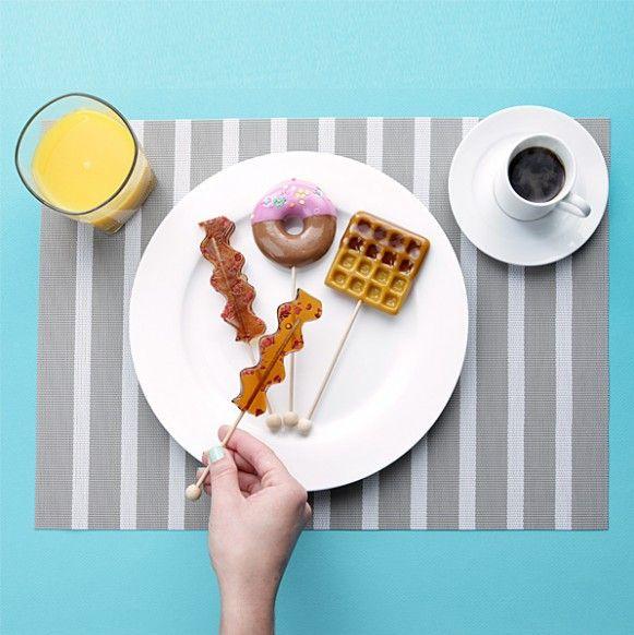 Sugary Breakfast Lollipops