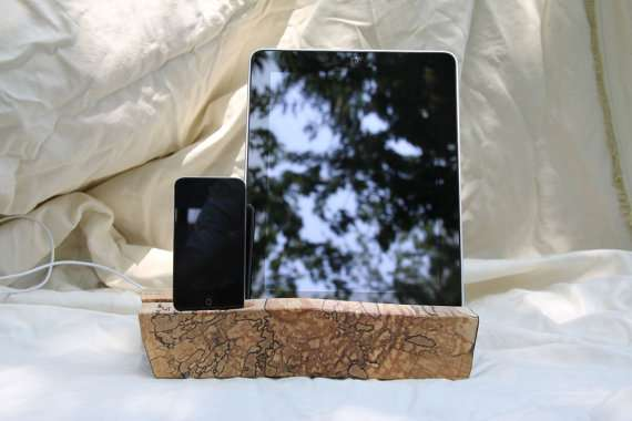 Handcrafted Timber Tablet Docks