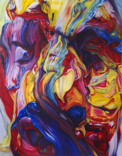 Surreal Swirled Stream Paintings