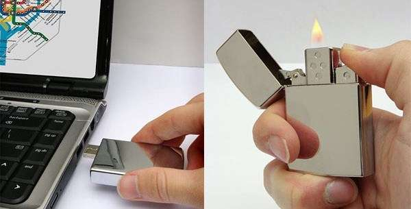 Think Geek USB 8GB flash drive lighter is the hottest trend