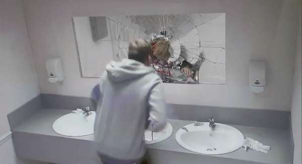 Simulated Crash Bathroom Pranks