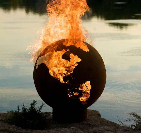 Scorched Earth Fireplace