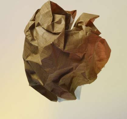 Crumpled Paper Comet Captures