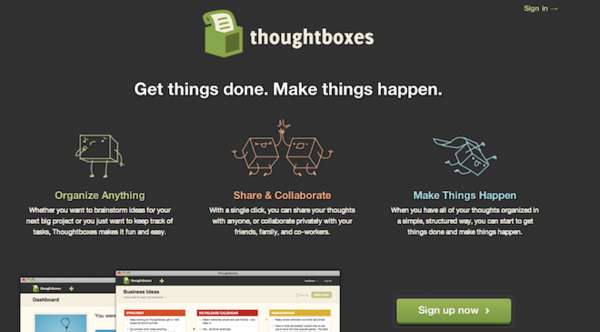 Thoughtboxes Web App