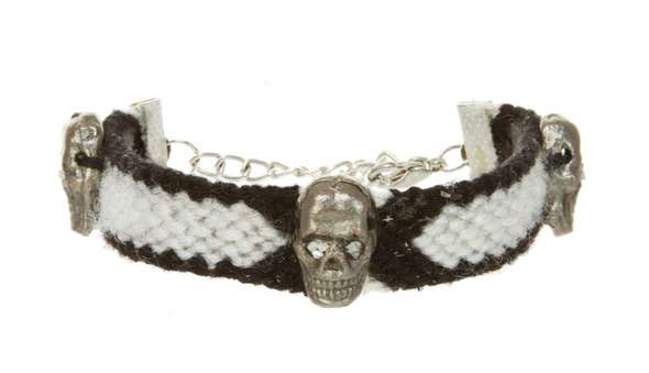 Skull-Adorned Friendship Bracelets