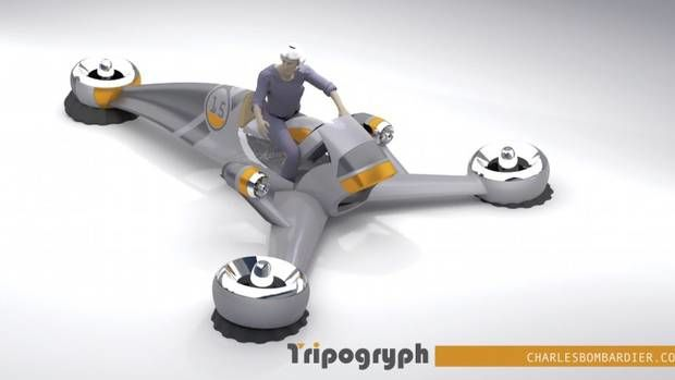 Three-Wheeled Flying Machines