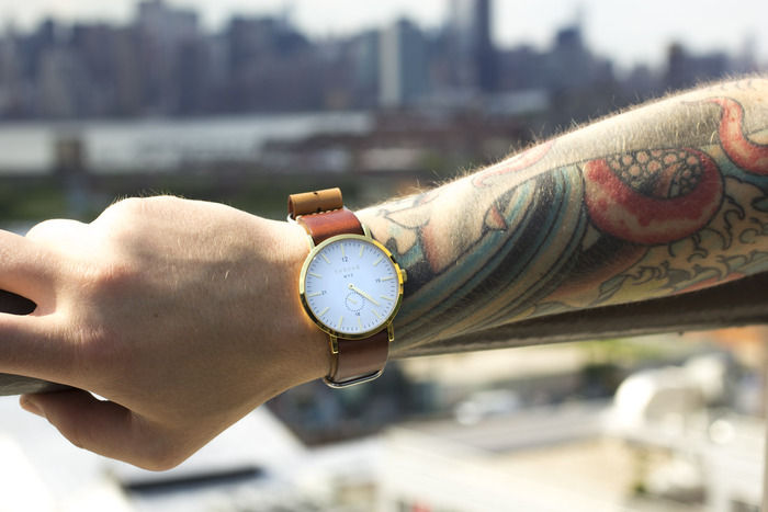 Hipster Leather-Strapped Watches
