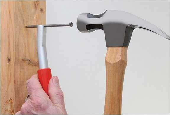 Finger-Saving Nail Holders