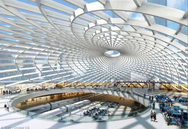 Tianjin's High Speed Rail Station