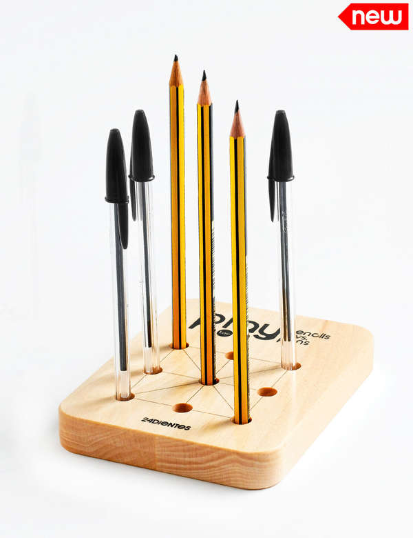Tic Tac Toe Pencil Holder