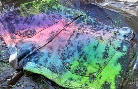 DIY Paint Splatter Cutoffs