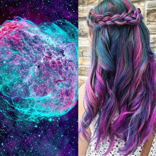 Celestial Technicolor Hairstyles