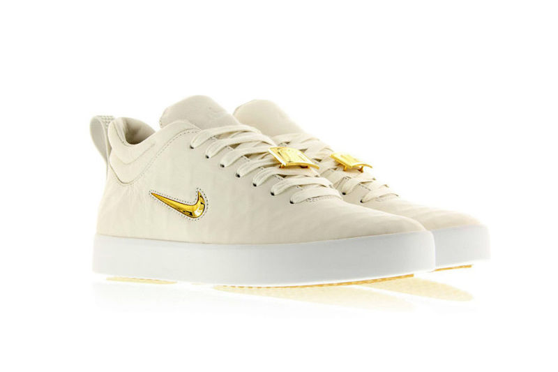 Minimalist Gold-Accented Sneakers