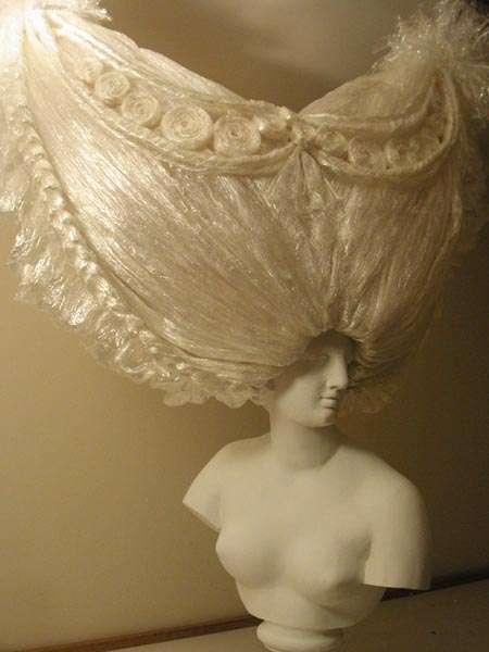 Plastic Wrap Headdresses