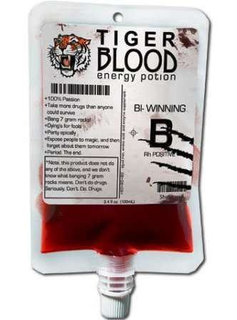 Tiger Blood energy drink